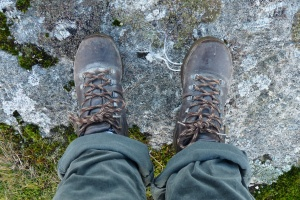Ah my lovely walking boots – make sure they are done up tight around your ankle – it may feel uncomfortable at first, but it will save you lots of hurt later!