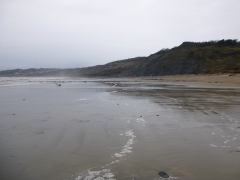 Low tide at Charmouth