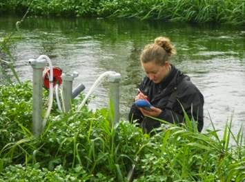 Rachel Bell collecting data