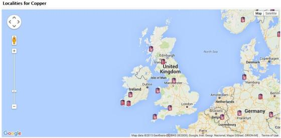 There are many locations you can find copper across the UK! Map is from the MinDat website.