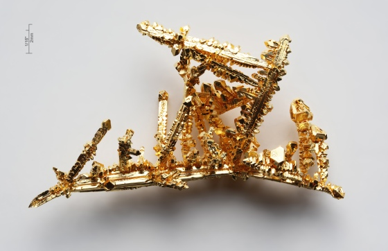 Gold comes in many form but these dendritic crystals are one of my favourites. Image from Wikipedia.