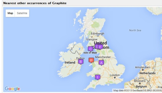 The only graphote location map I could get to work! From the MinDat website.