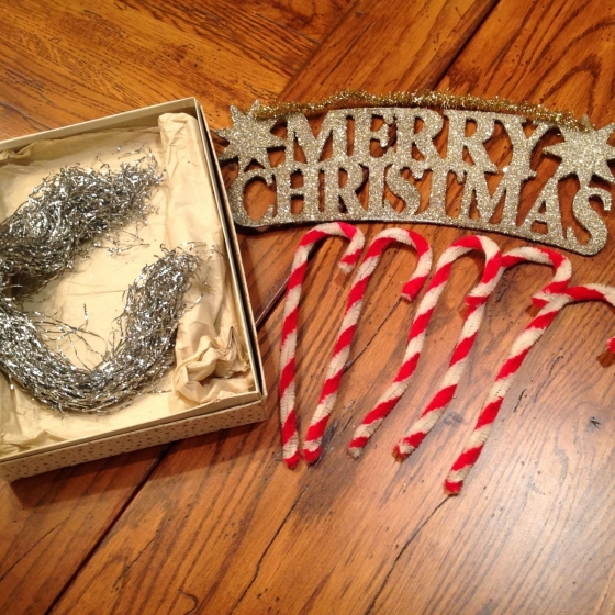 This metal tinsel was probably made from lead, but in the 1600's tinsel was made from actual silver! This image is from Motherboard.