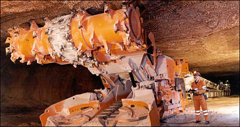 Cheshire's salt mines are still very much active! Image from the BBC.