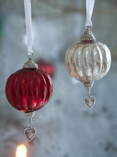 Lovely vintage glass baubles from nordichouse.co.uk