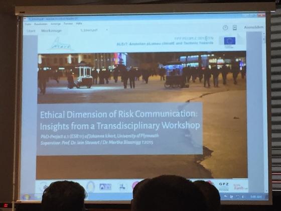 Johanna Ickert's talk front slide